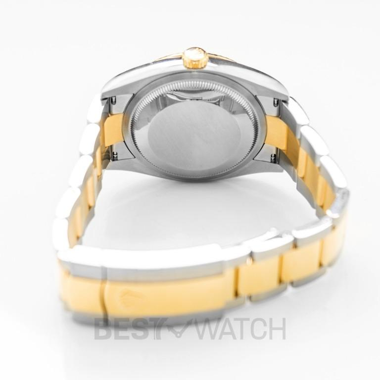 [NEW] Rolex Datejust 36 Automatic White Mother Of Pearl Dial Diamond Indexes Oystersteel and 18 ct Yellow Gold Men's Watch 126233-G-Oyster
