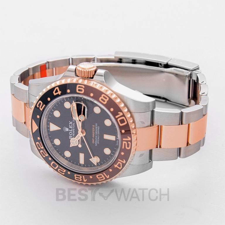 [NEW] Rolex GMT Master II Black & Brown Bezel Stainless Steel Automatic Black Dial Men's Watch 126711CHNR-0002