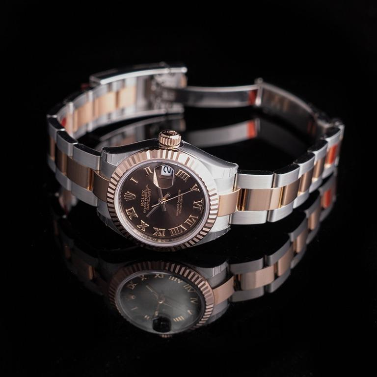 [NEW] Rolex Lady-Datejust Steel And 18ct Everose Gold Automatic Chocolate Dial Ladies Watch 279171-0009