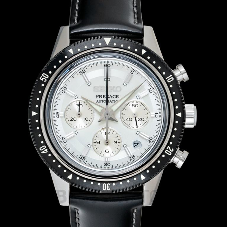 [NEW] Seiko Presage Chronograph 55th Anniversary Limited Edition Automatic Ivory Dial Men's Watch SARK015