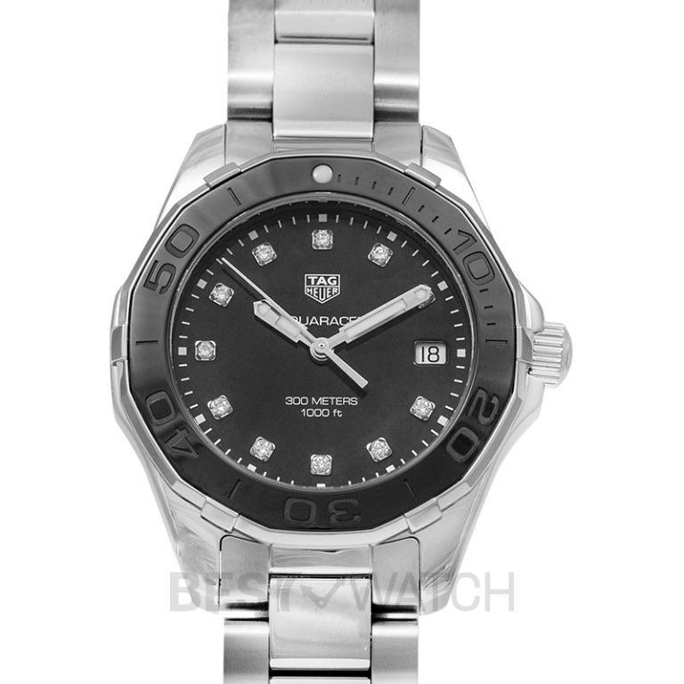 [NEW] TAG Heuer Aquaracer Ladies Quartz Black Mother Of Pearl Dial with Diamonds Ladies Watch WAY131M.BA0748