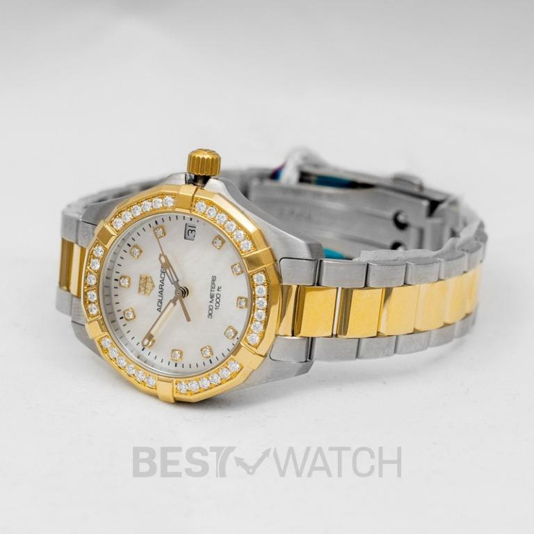 [NEW] TAG Heuer Aquaracer Ladies Quartz Mother Of Pearl Dial with Diamonds Ladies Watch WBD1323.BB0320