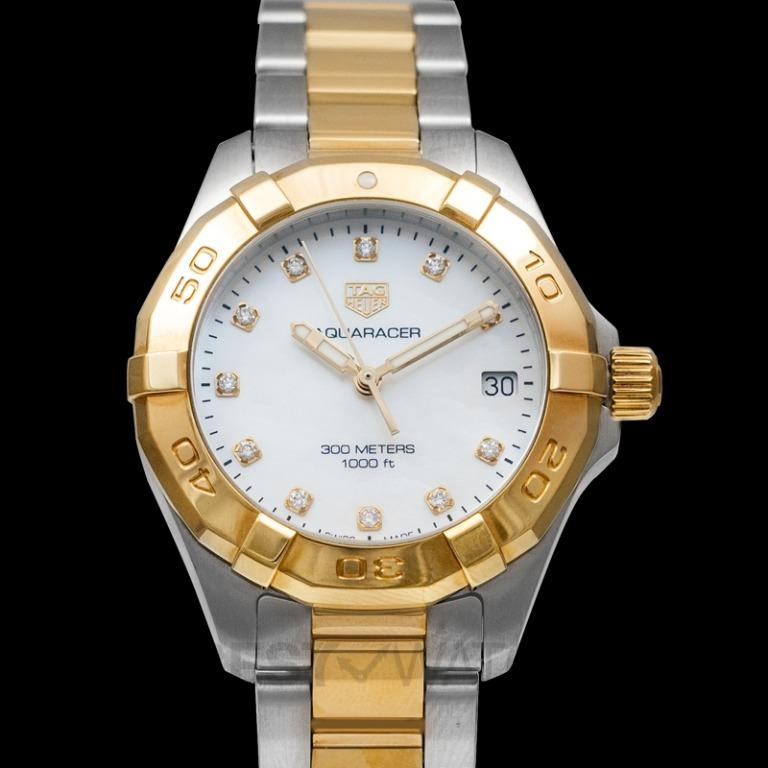 [NEW] TAG Heuer Aquaracer Quartz Mother Of Pearl Dial with Diamonds Ladies Watch WBD1322.BB0320