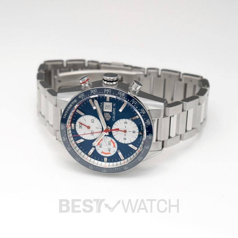 [NEW] TAG Heuer Carrera Calibre 16 Automatic Chronograph Blue Dial Men's Watch CV201AR.BA0715