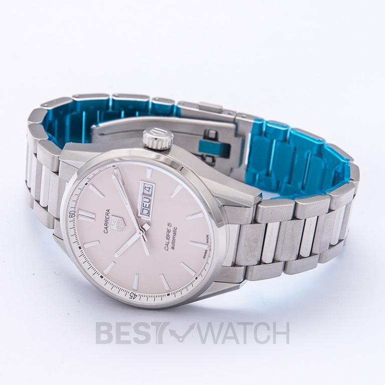 [NEW] TAG Heuer Carrera Calibre 5 Day-Date Automatic Silver Dial Ladies Watch WAR201B.BA0723