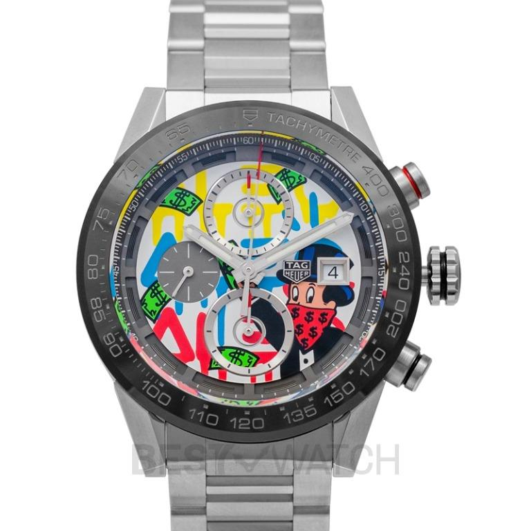 [NEW] TAG Heuer Carrera Calibre Heuer01 Alec Monopoly Special Edition Automatic Multicolored Dial Men's Watch CAR201AA.BA0714
