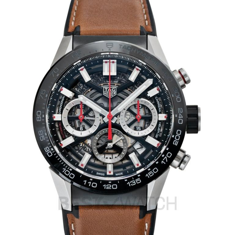 [NEW] TAG Heuer Carrera Calibre Heuer 02 Automatic Black Skeleton Dial Men's Watch CBG2010.FT6144