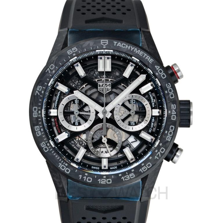 [NEW] TAG Heuer Carrera Calibre Heuer 02 Automatic Black Skeleton Dial Men's Watch CBG2016.FT6143