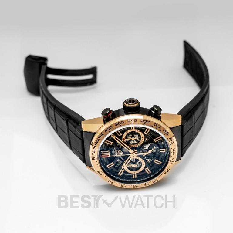 [NEW] TAG Heuer Carrera Calibre Heuer 02 Automatic Black Skeleton Dial Men's Watch CBG2051.FC6426