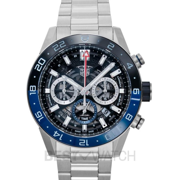 [NEW] TAG Heuer Carrera Calibre Heuer 02 GMT Automatic Skeleton Dial Men's Watch CBG2A1Z.BA0658