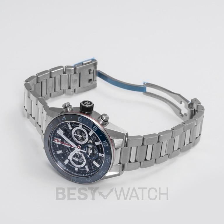 [NEW] TAG Heuer Carrera Calibre Heuer 02 GMT Automatic Skeleton Dial Men's Watch CBG2A1Z.BA0658