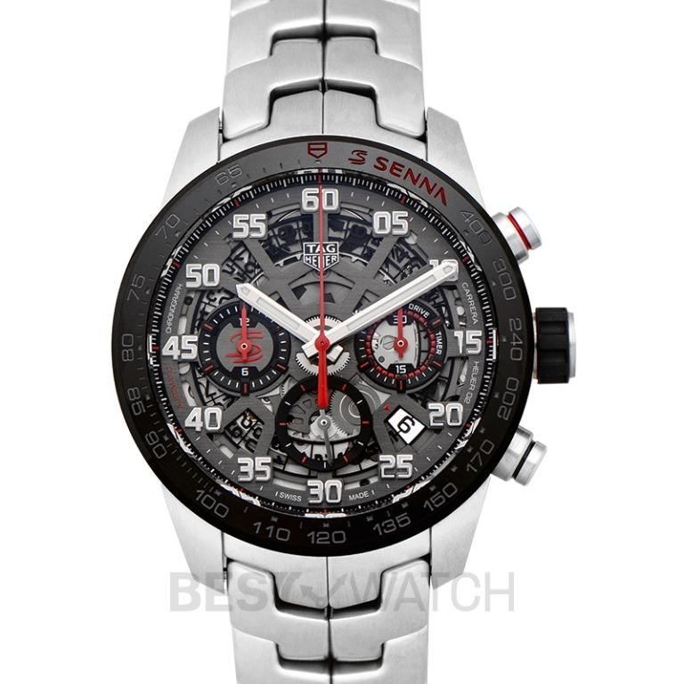 [NEW] TAG Heuer Carrera Calibre Heuer 02 Senna Special Edition Automatic Skeleton Dial Men's Watch CBG2013.BA0657