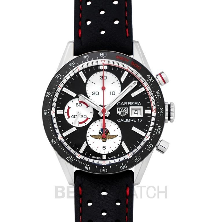 [NEW] TAG Heuer Carrera Chronograph Calibre 16 Automatic Black Dial Men's Watch CV201AS.FC6429
