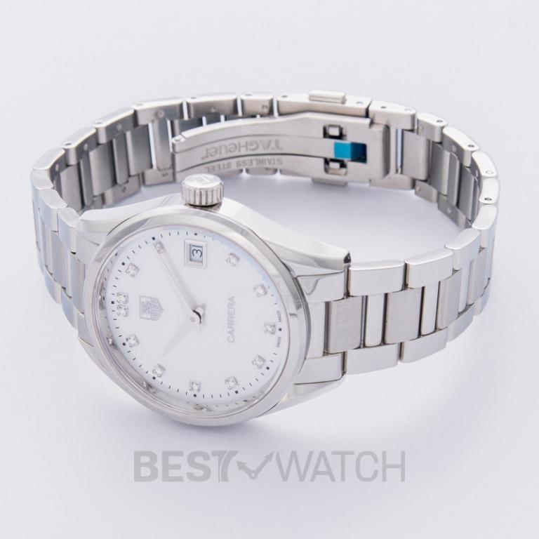 [NEW] TAG Heuer Carrera Ladies Quartz Mother Of Pearl Dial with Diamonds Ladies Watch WAR1314.BA0778