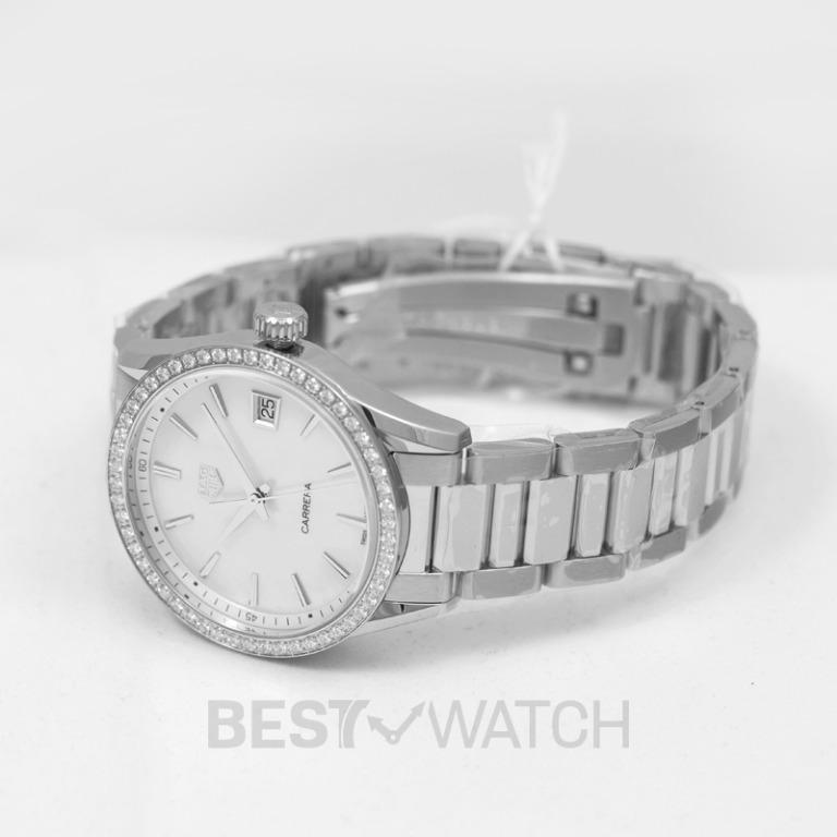 [NEW] TAG Heuer Carrera Ladies Quartz White Dial with Diamonds Bezel Ladies Watch WBK1316.BA0652