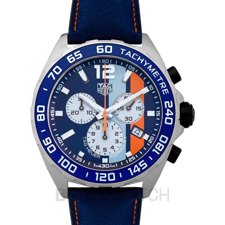 [NEW] TAG Heuer Formula 1 Chronograph Gulf Special Edition Quartz Blue Dial Ladies Watch CAZ101N.FC8243