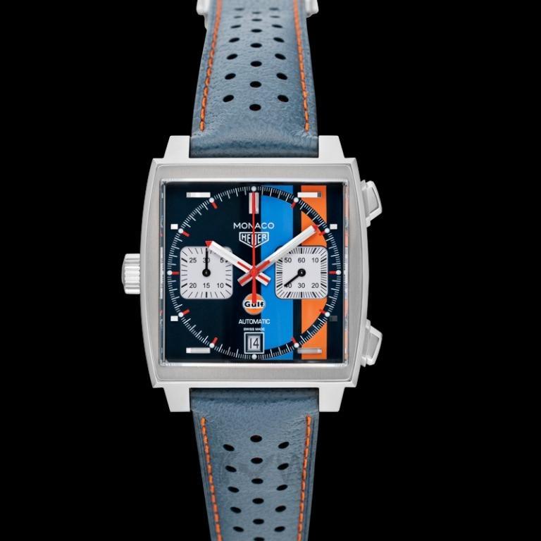 [NEW] TAG Heuer Monaco Calibre 11 Gulf Special Edition Multicolored Dial Men's Watch CAW211R.FC6401