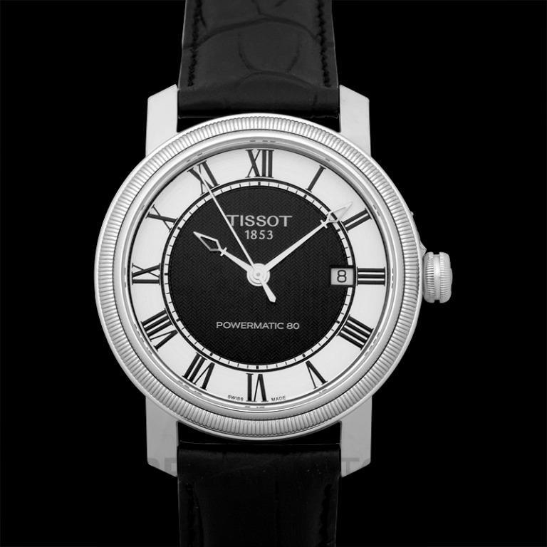 [NEW] Tissot T-Classic Bridgeport Powermatic 80 Automatic Panda Black And White Dial Roman Indexes Men's Watch T097.407.16.053.00