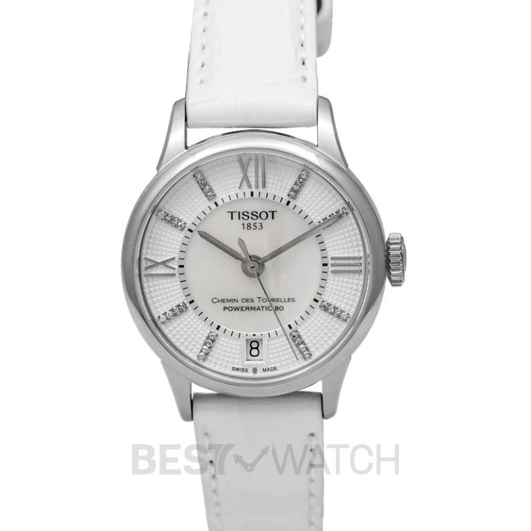 [NEW] Tissot T-Classic Chemin Des Tourelles Powermatic 80 Lady Automatic Mother Of Pearl Dial Diamond Indexes Ladies Watch T099.207.16.116.00
