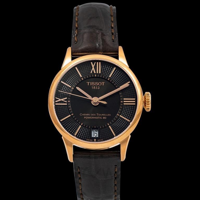 [NEW] Tissot T-Classic Chemin Des Tourelles Powermatic 80 Lady Automatic Bronze Dial Ladies Watch T099.207.36.448.00