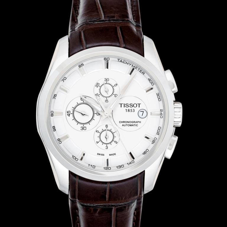 [NEW] Tissot T-Classic Couturier Automatic Chronograph Automatic Silver Dial Men's Watch T035.627.16.031.00