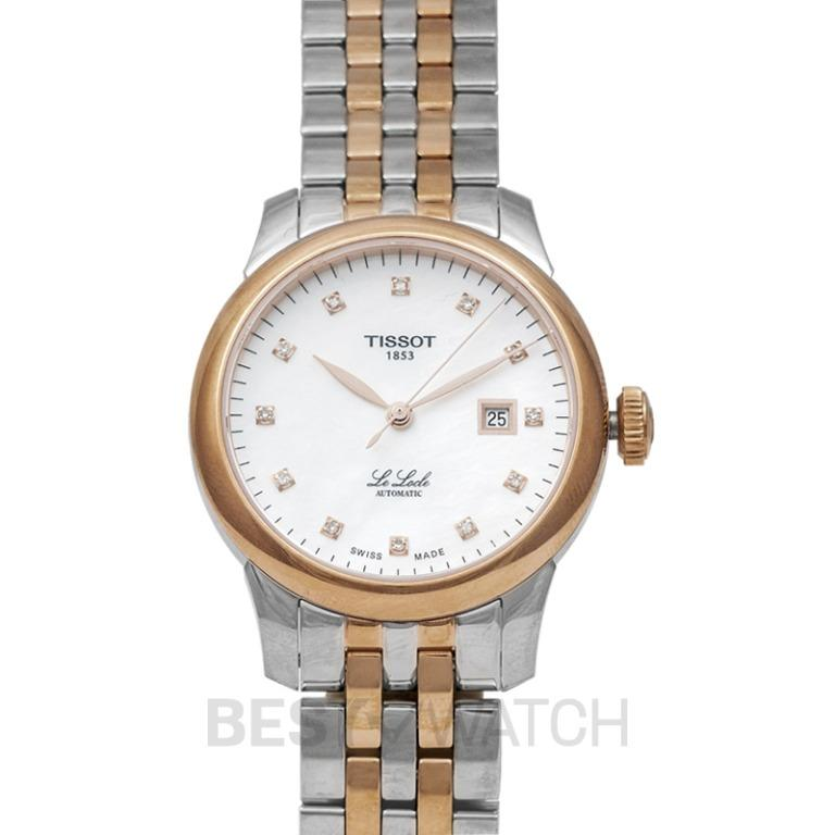 [NEW] Tissot T-Classic Le Locle Automatic Lady (29.00) Automatic Mother Of Pearl Dial Diamond Indexes Ladies Watch T006.207.22.116.00