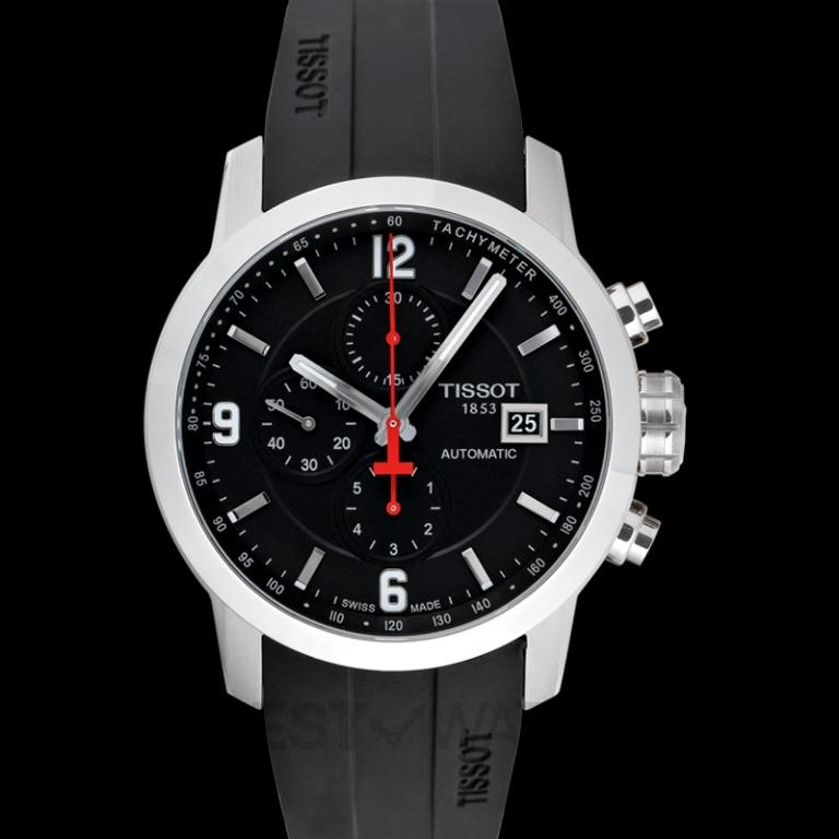 [NEW] Tissot T-Sport PRC 200 Automatic Chronograph Automatic Black Dial Men's Watch T055.427.17.057.00