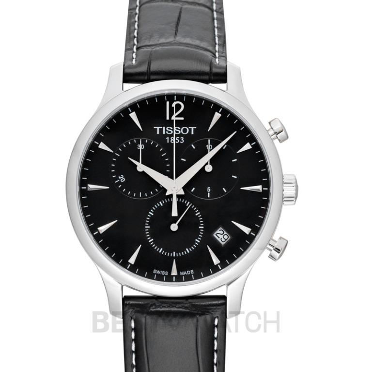 [NEW] Tissot T-Classic Tradition Chronograph Quartz Black Dial Men's Watch T063.617.16.057.00
