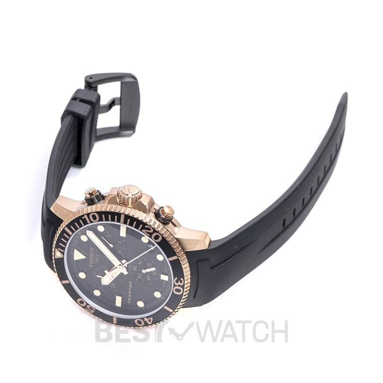 [NEW] Tissot T-Sport Seastar 1000 Chronograph Quartz Black Dial Men's Watch T120.417.37.051.00