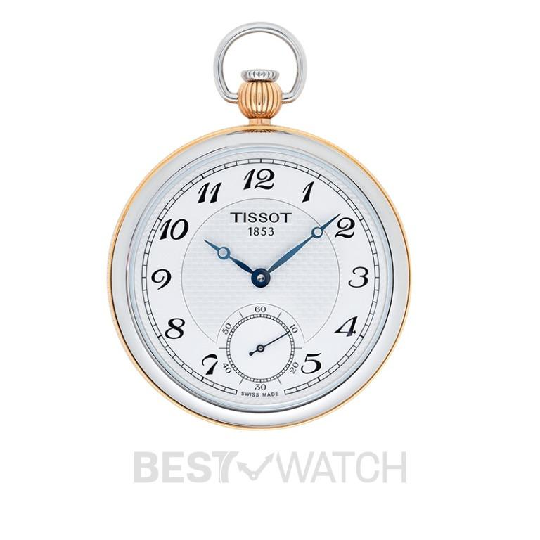 [NEW] Tissot T-Pocket Bridgeport Lepine Mechanical Silver Dial Men's Pocket Watch T860.405.29.032.01
