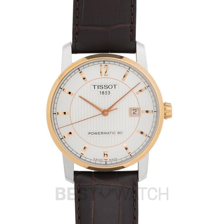 [NEW] Tissot T-Classic Automatic Two-Tone Silver Dial Titanium Men's Watch T087.407.56.037.00