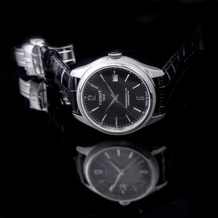 [NEW] Tissot T-Classic Ballade Powermatic 80 Cosc Automatic Black Dial Men's Watch T108.408.16.057.00