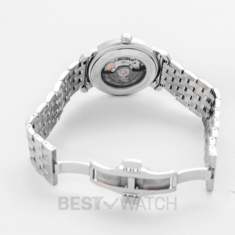 [NEW] Tissot T-Classic Bridgeport Powermatic 80 Black Dial Stainless Steel Men's Watch 40 mm T097.407.11.053.00