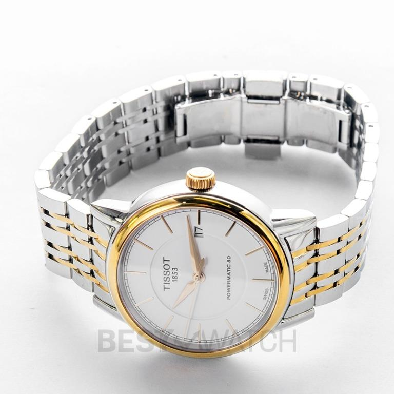 [NEW] Tissot T-Classic Carson Powermatic 80 Automatic White Dial Men's Watch T085.407.22.011.00