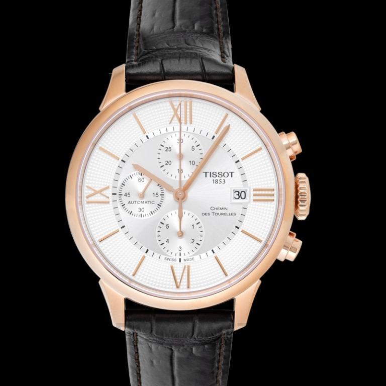 [NEW] Tissot T-Classic Chemin Des Tourelles Automatic Chronograph Silver Dial Men's Watch T099.427.36.038.00