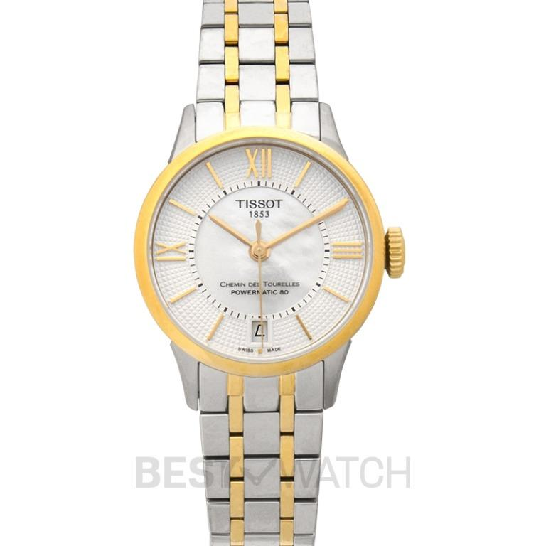 [NEW] Tissot T-Classic Chemin Des Tourelles Powermatic 80 Automatic Mother Of Pearl Dial Ladies Watch T099.207.22.118.00