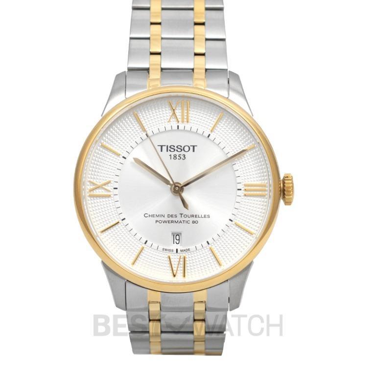 [NEW] Tissot T-Classic Chemin Des Tourelles Powermatic 80 Automatic Silver Dial Men's Watch T099.407.22.038.00