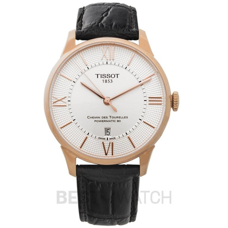 [NEW] Tissot T-Classic Chemin Des Tourelles Powermatic 80 Automatic Silver Dial Men's Watch T099.407.36.038.00