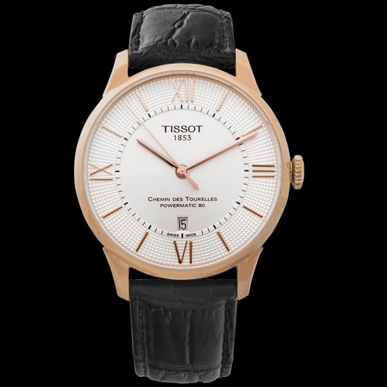 [NEW] Tissot T-Classic Chemin Des Tourelles Powermatic 80 Automatic Silver Dial Men's Watch T099.407.36.038.00