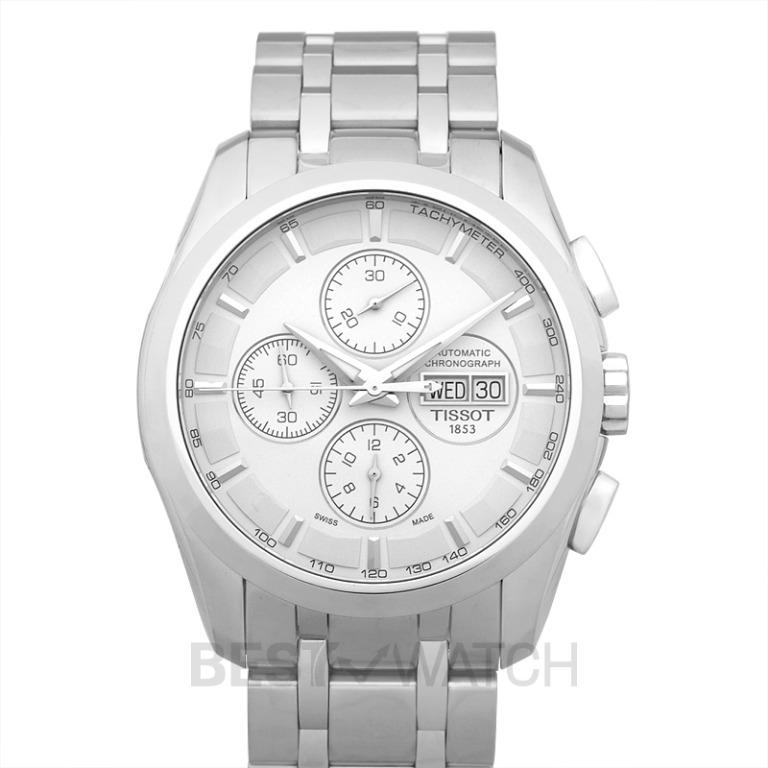 [NEW] Tissot T-Classic Couturier Automatic Chronograph Silver Dial Men's Watch T035.614.11.031.00