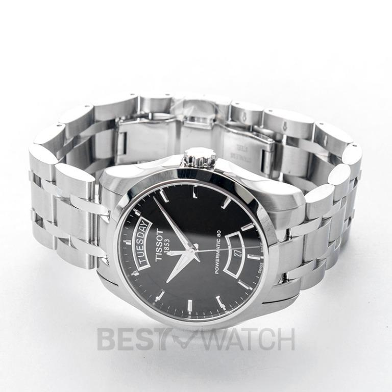 [NEW] Tissot T-Classic Couturier Powermatic 80 Automatic Black Dial Men's Watch T035.407.11.051.01