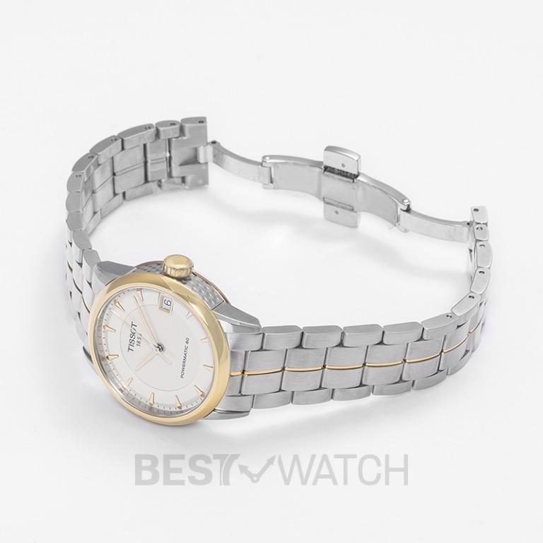 [NEW] Tissot T-Classic Luxury Powermatic 80 Automatic Ivory Dial Ladies Watch T086.207.22.261.00