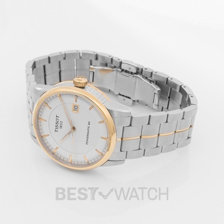 [NEW] Tissot T-Classic Luxury Powermatic 80 Automatic Ivory Dial Men's Watch T086.407.22.261.00