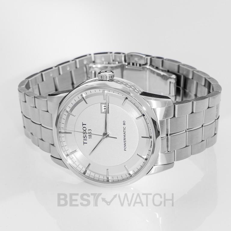 [NEW] Tissot T-Classic Luxury Powermatic 80 Automatic Silver Dial Men's Watch T086.407.11.031.00