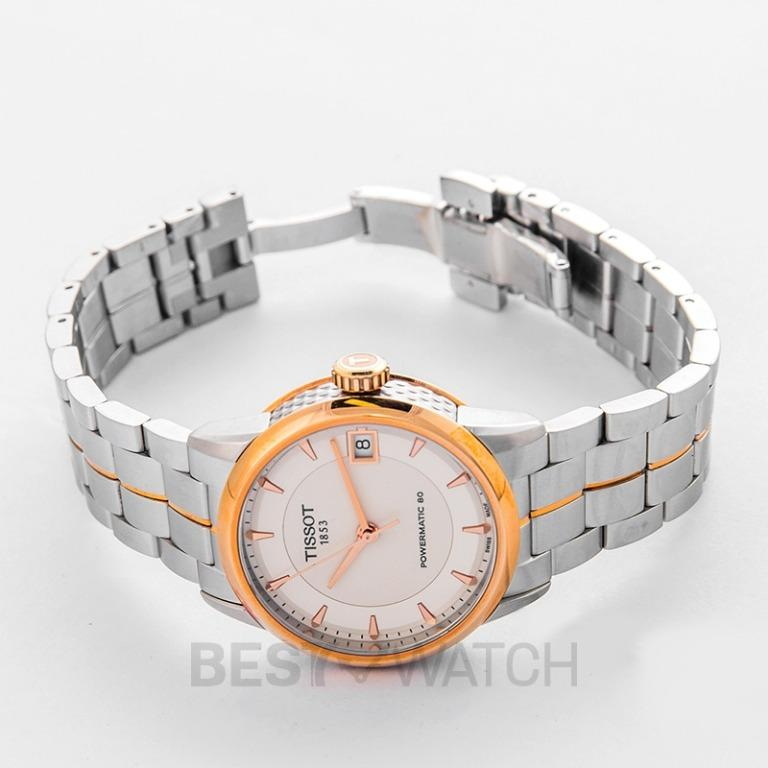 [NEW] Tissot T-Classic Luxury Powermatic 80 Lady Automatic Ivory Dial Ladies Watch T086.207.22.261.01