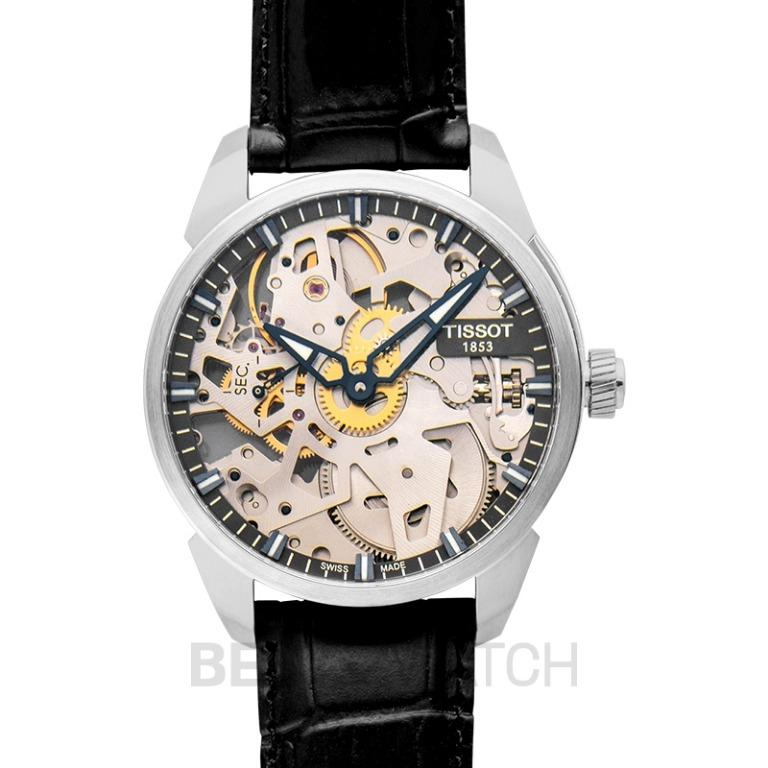 [NEW] Tissot T-Classic T-complication Squelette Mechanical Manual-winding Skeleton Dial Men's Watch T070.405.16.411.00