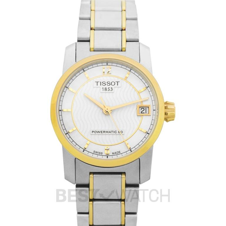 [NEW] Tissot T-Classic Titanium Automatic Mother of Pearl Dial Ladies Watch T087.207.55.117.00