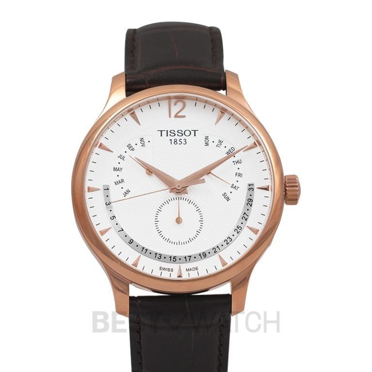 [NEW] Tissot T-Classic Tradition Perpetual Calendar Quartz Silver Dial Men's Watch T063.637.36.037.00