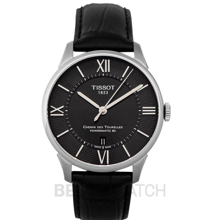 [NEW] Tissot T-Classic Chemin Des Tourelles Powermatic 80 Automatic Black Dial Men's Watch T099.407.16.058.00