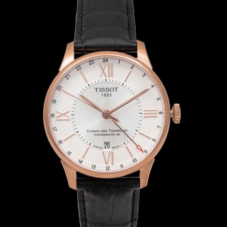 [NEW] Tissot T-Classic Chemin Des Tourelles Powermatic 80 Gmt Automatic Silver Dial Men's Watch T099.429.36.038.00